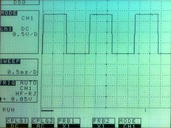 Oscillateur GPIO par programme C - Temps partagé