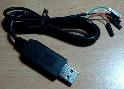 Raspberry Pi et câble USB