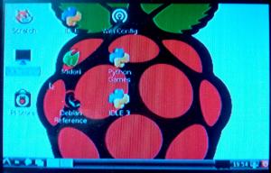 """Raspbian Wheezy sur écran 3""""5"""