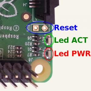 Leds et Reset du Raspberry Pi B +